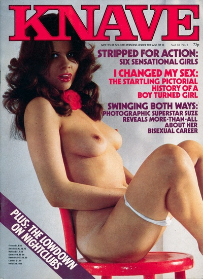 Front cover of Knave Volume 10 No 2 magazine