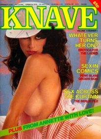 Front cover of Knave Volume 14 No 1 magazine