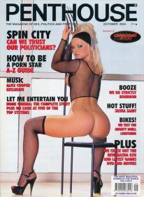 Front cover of Penthouse October 2003 magazine