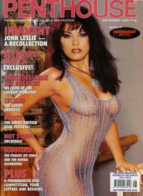 Front cover of Penthouse September 2003 magazine