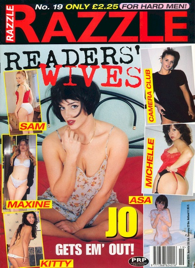 Front cover of Razzle Readers Wives Volume 19 magazine