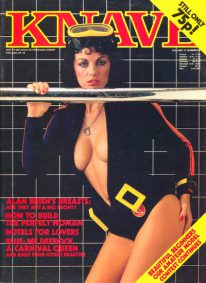 Front cover of Knave Volume 11 No 8 magazine