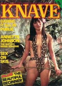 Front cover of Knave Volume 13 No 10 magazine