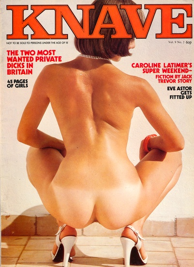 Front cover of Knave Volume 9 No 1 magazine
