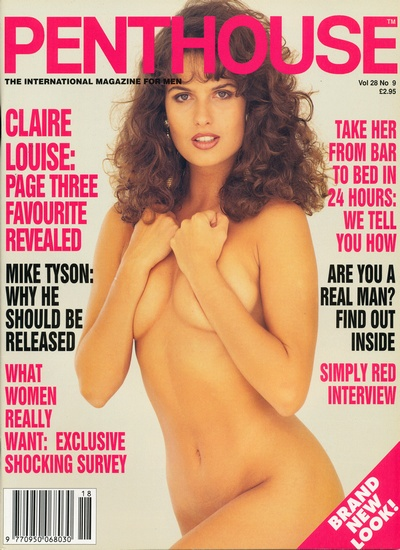 Front cover of Penthouse Volume 28 No 9 magazine