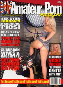 Front cover of UK Amateur Porn Issue 1 magazine