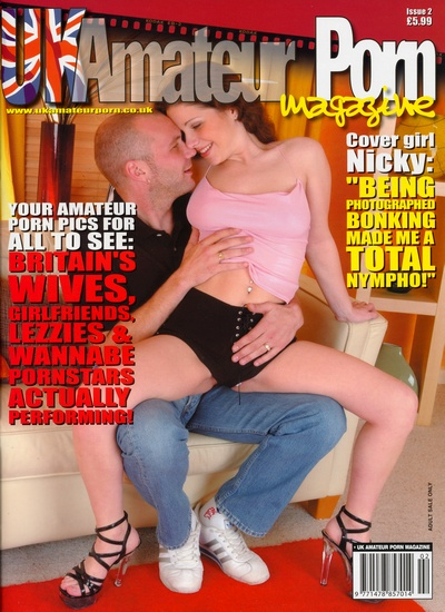 Front cover of UK Amateur Porn Issue 2 magazine