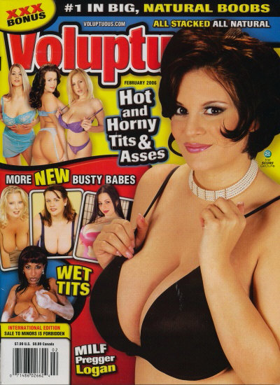 Front cover of Voluptuous February 2006 magazine