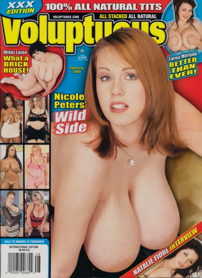 Front cover of Voluptuous February 2008 magazine