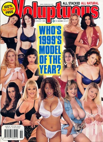Front cover of Voluptuous Holiday 1999 magazine