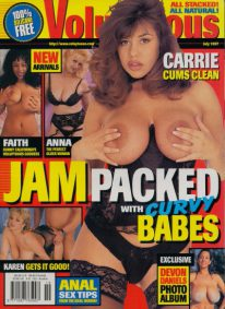 Front cover of Voluptuous July 1997 magazine