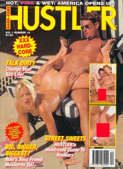 Front cover of Hustler Vol 1 No 12 magazine