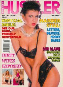 Front cover of Hustler (UK) Vol 1 No 10 magazine