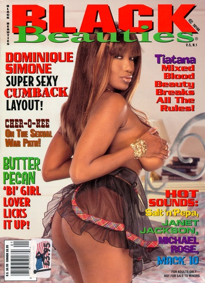 Front cover of Black Beauties Volume 5 No 1 magazine