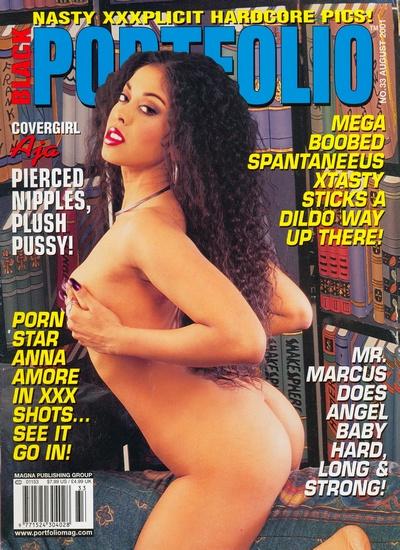 Front cover of Black Portfolio August 2001 magazine
