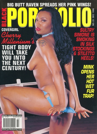 Front cover of Black Portfolio December 1999 magazine