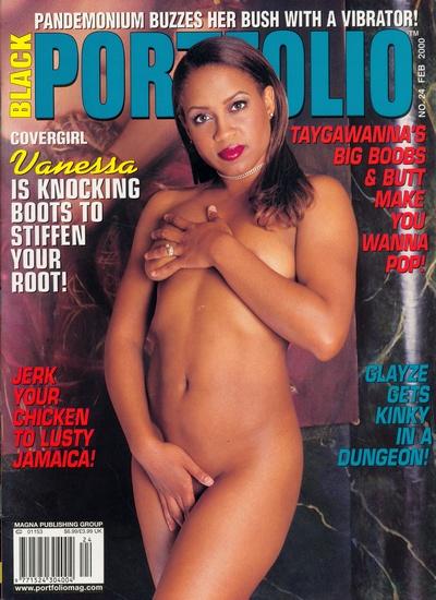 Front cover of Black Portfolio February 2000 magazine