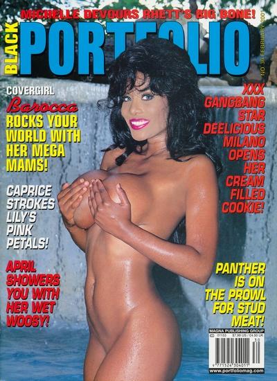 Front cover of Black Portfolio February 2001 magazine