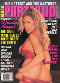 Front cover of Black Portfolio June 2002 magazine