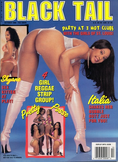 Front cover of Black Tail October 1996 magazine