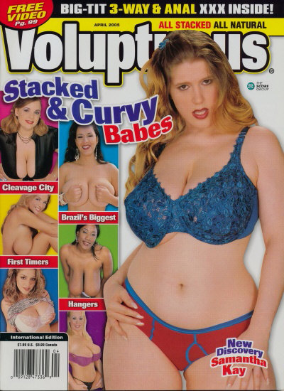 Front cover of Voluptuous April 2005 magazine