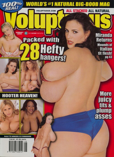 Front cover of Voluptuous August 2005 magazine