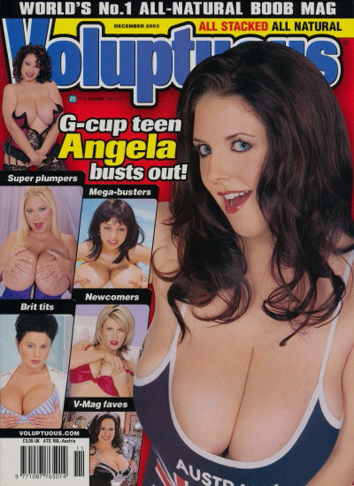Front cover of Voluptuous December 2003 magazine