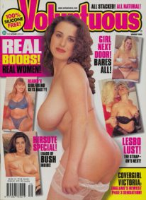 Front cover of Voluptuous January 1999 magazine