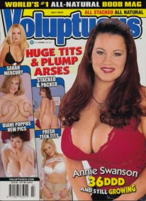 Front cover of Voluptuous July 2004 magazine