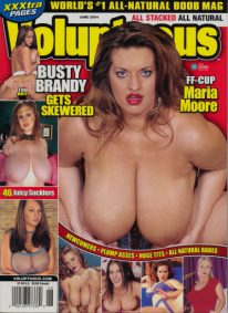 Front cover of Voluptuous June 2004 magazine