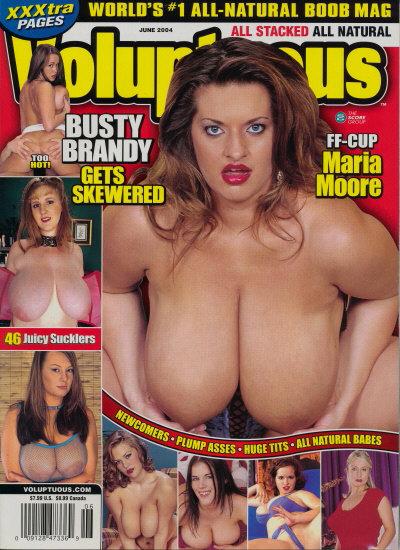 Front cover of Voluptuous June 2004 magazine