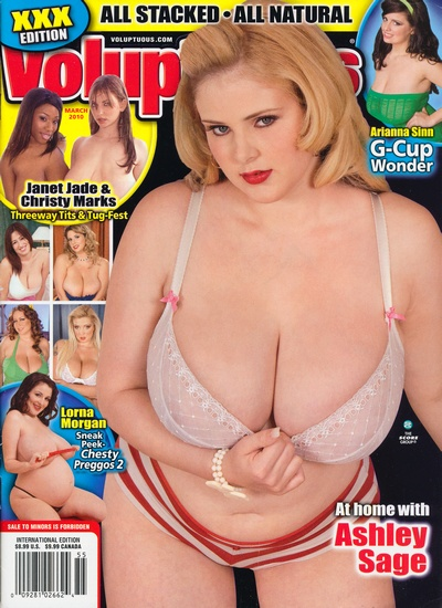 Front cover of Voluptuous March 2010 magazine