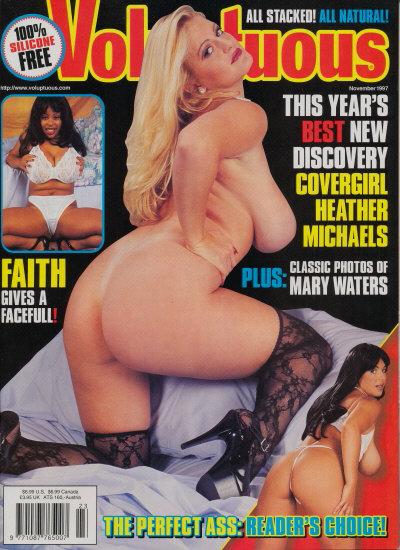 Front cover of Voluptuous November 1997 magazine