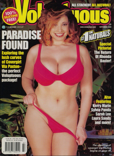 Front cover of Voluptuous September 1999 magazine
