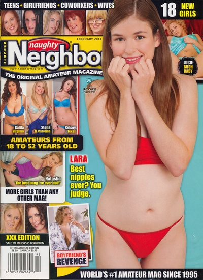 Front cover of Naughty Neighbours February 2013 magazine