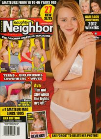Front cover of Naughty Neighbours January 2013 magazine