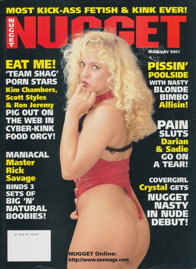 Front cover of Nugget February 2001 magazine