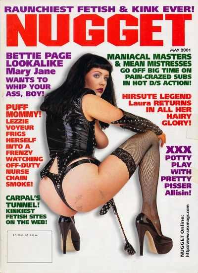 Front cover of Nugget May 2001 magazine