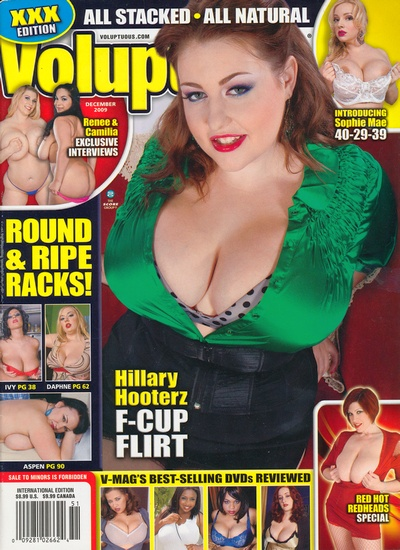 Front cover of Voluptuous December 2009 magazine