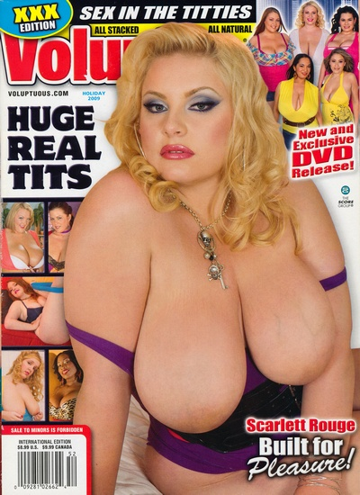 Front cover of Voluptuous Holiday 2009 magazine