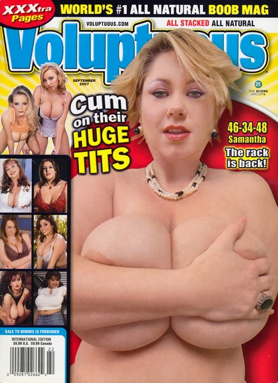 Front cover of Voluptuous September 2007 magazine