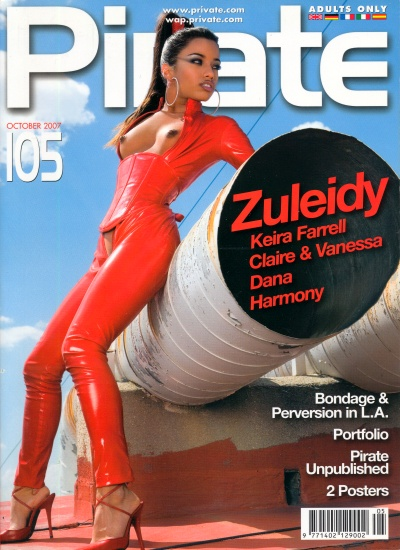 Front cover of Pirate 105 magazine