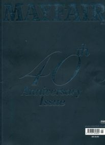 Front cover of Mayfair 40th Anniversary magazine