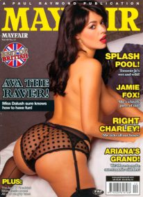 Front cover of Mayfair Volume 49 No 12 magazine