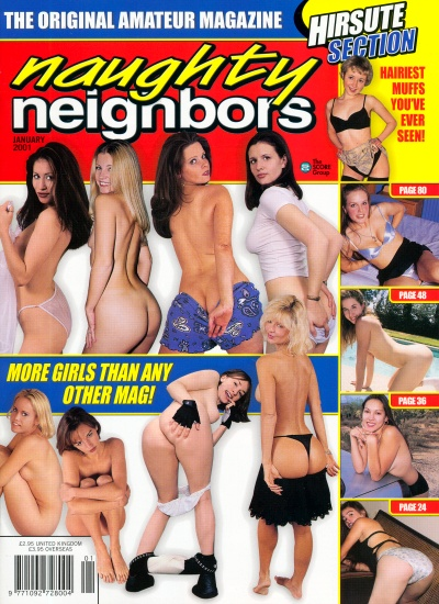 Front cover of Naughty Neighbors January 2001 magazine