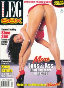 Front cover of Leg Sex April 2001 magazine