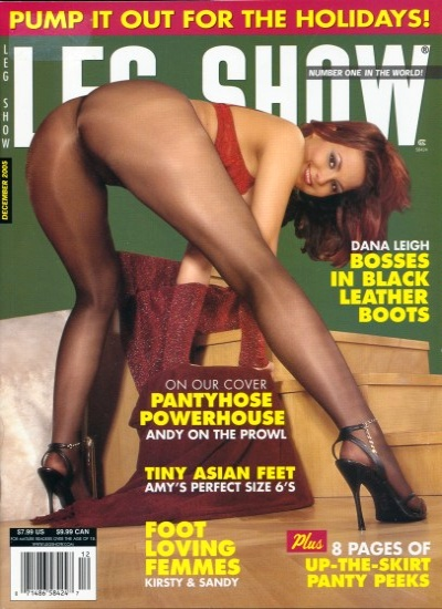 Front cover of Leg Show December 2005 magazine