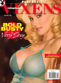 Front cover of Playboy's Vixens August/September 2008 magazine